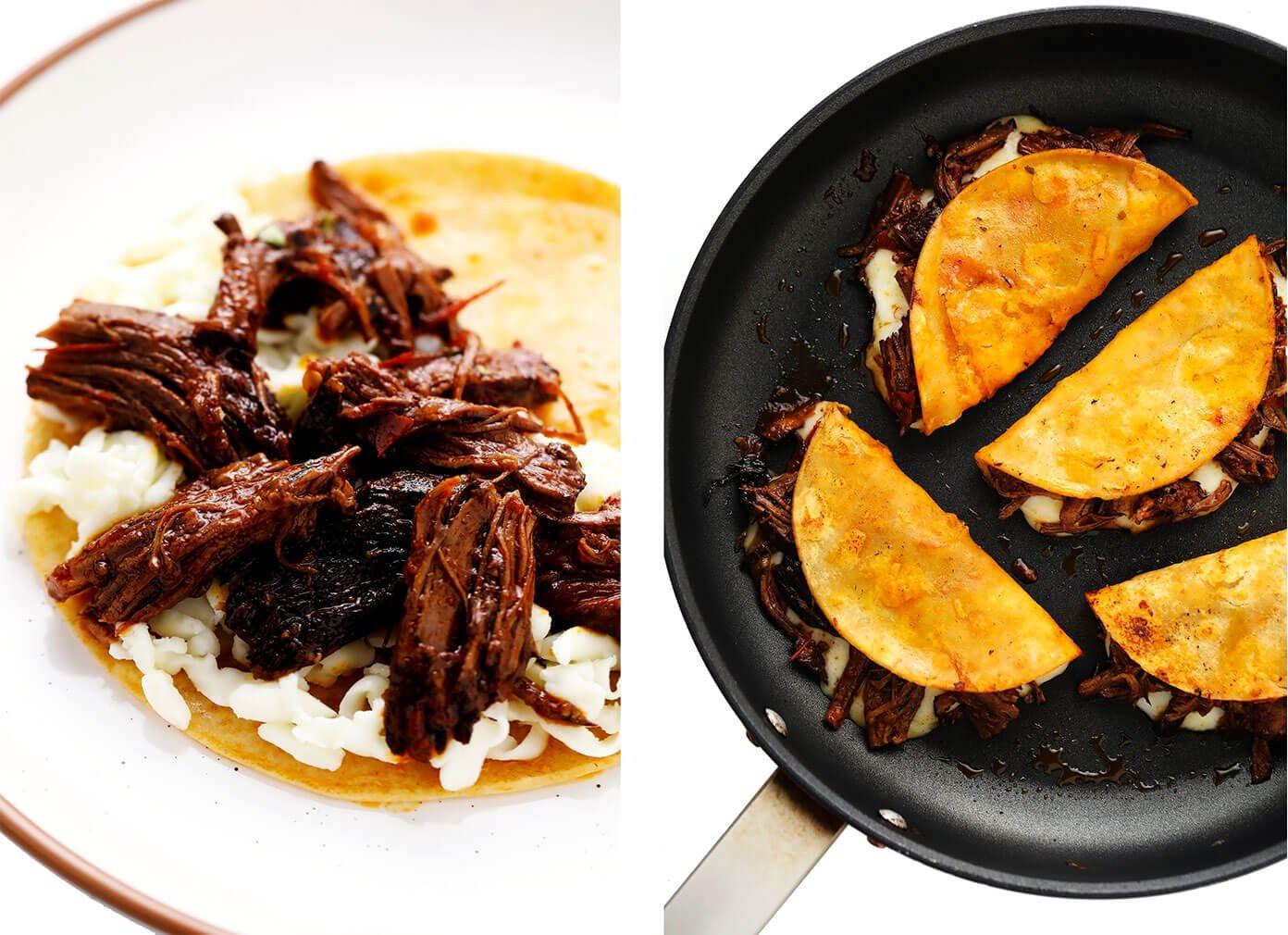 How to make birria tacos (assembly)