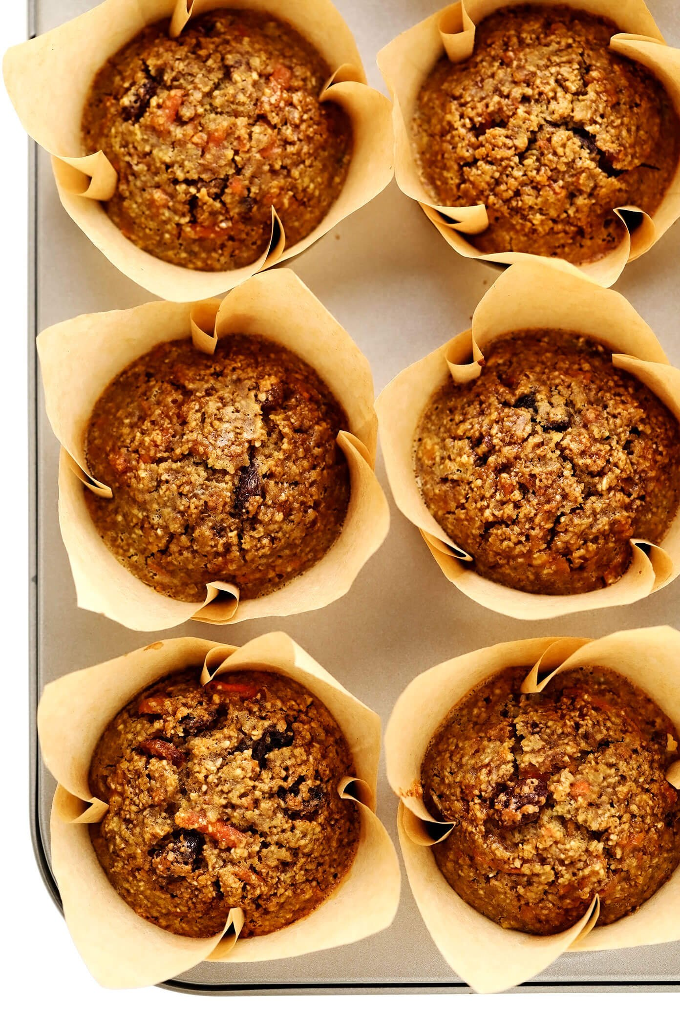 Healthy Carrot Muffins in Pan