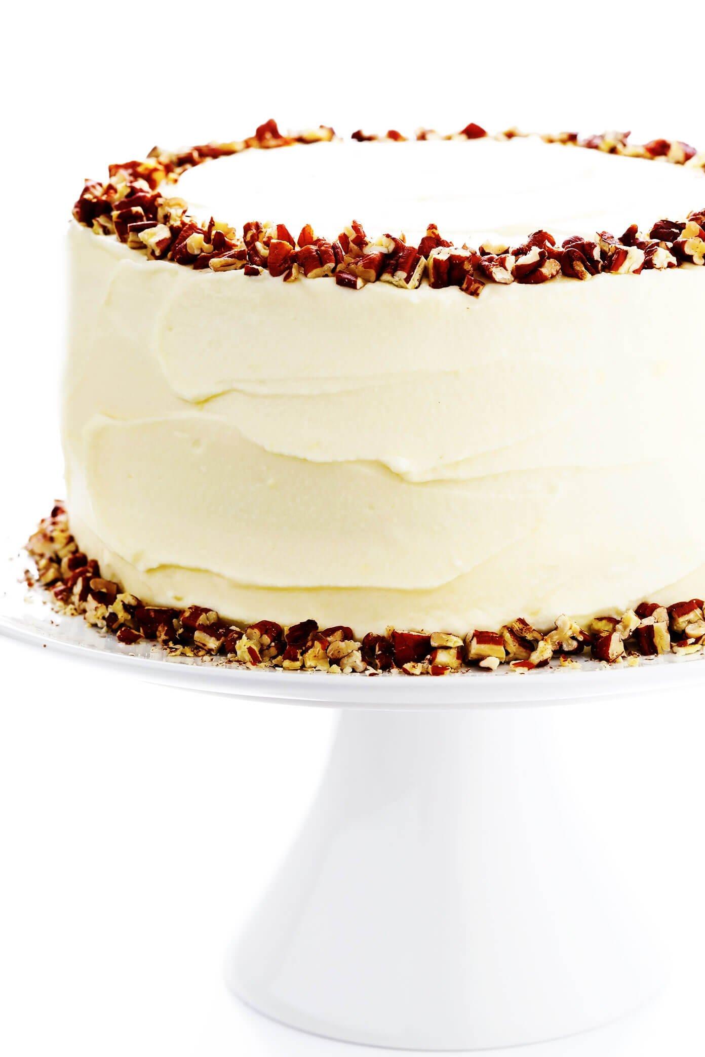 Doctor Bird Cake (Hummingbird Cake) on Pedestal