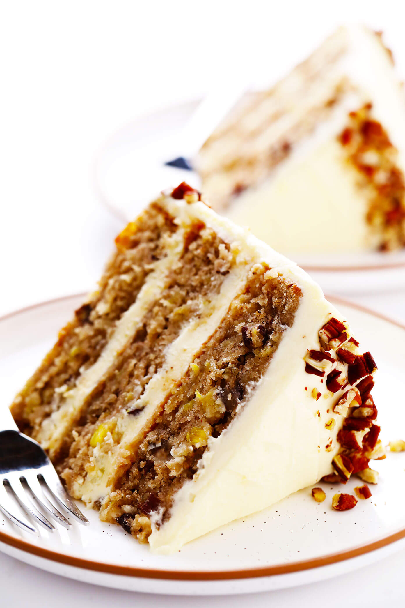 Hummingbird Cake Slices with Cream Cheese Frosting