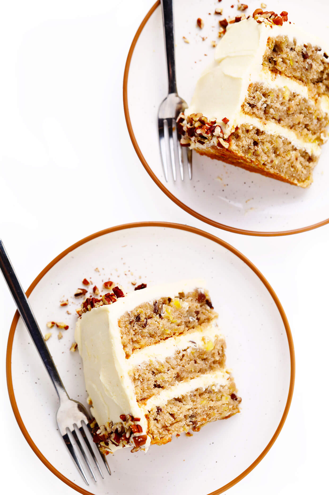 Slices of hummingbird cake