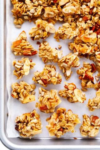 Granola Clusters on Sheet Pan