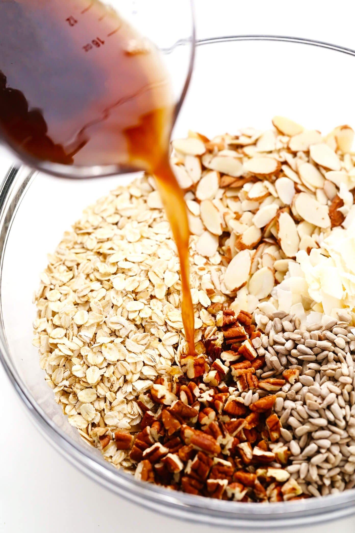 Granola Ingredients in Bowl