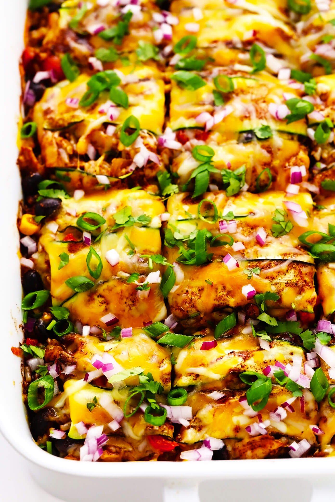 Zucchini Enchilada Casserole