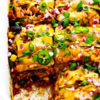 Zucchini Enchilada Casserole Recipe