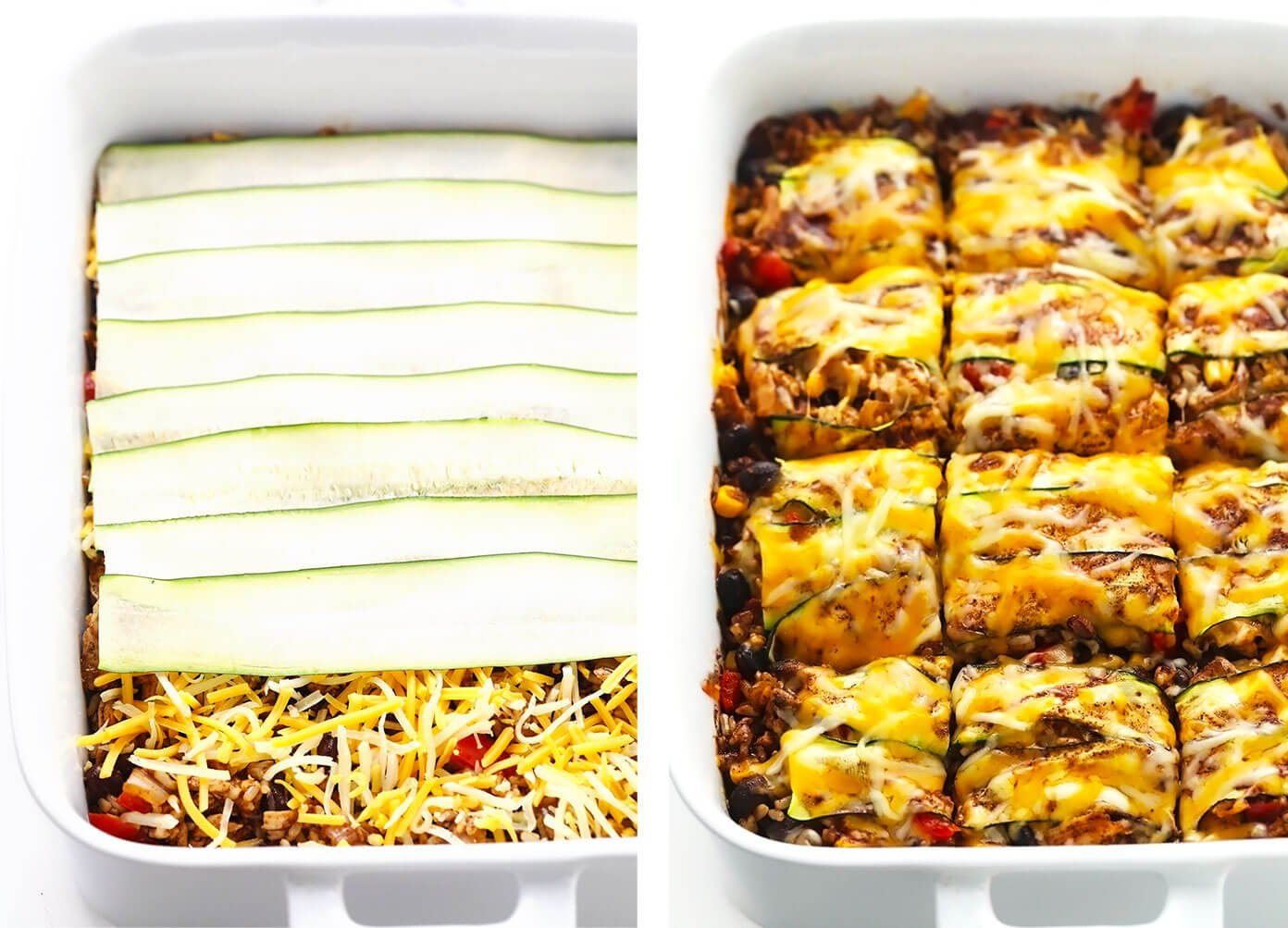 How To Make Enchilada Casserole -- Step By Step Layers