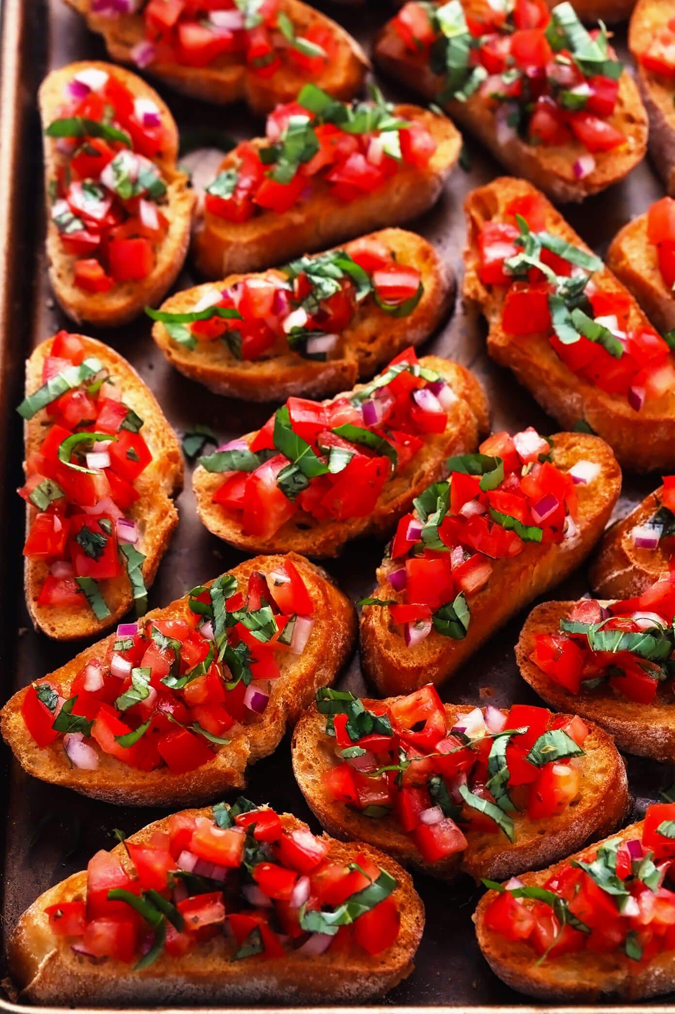 Best bruschetta recipe on sheet pan