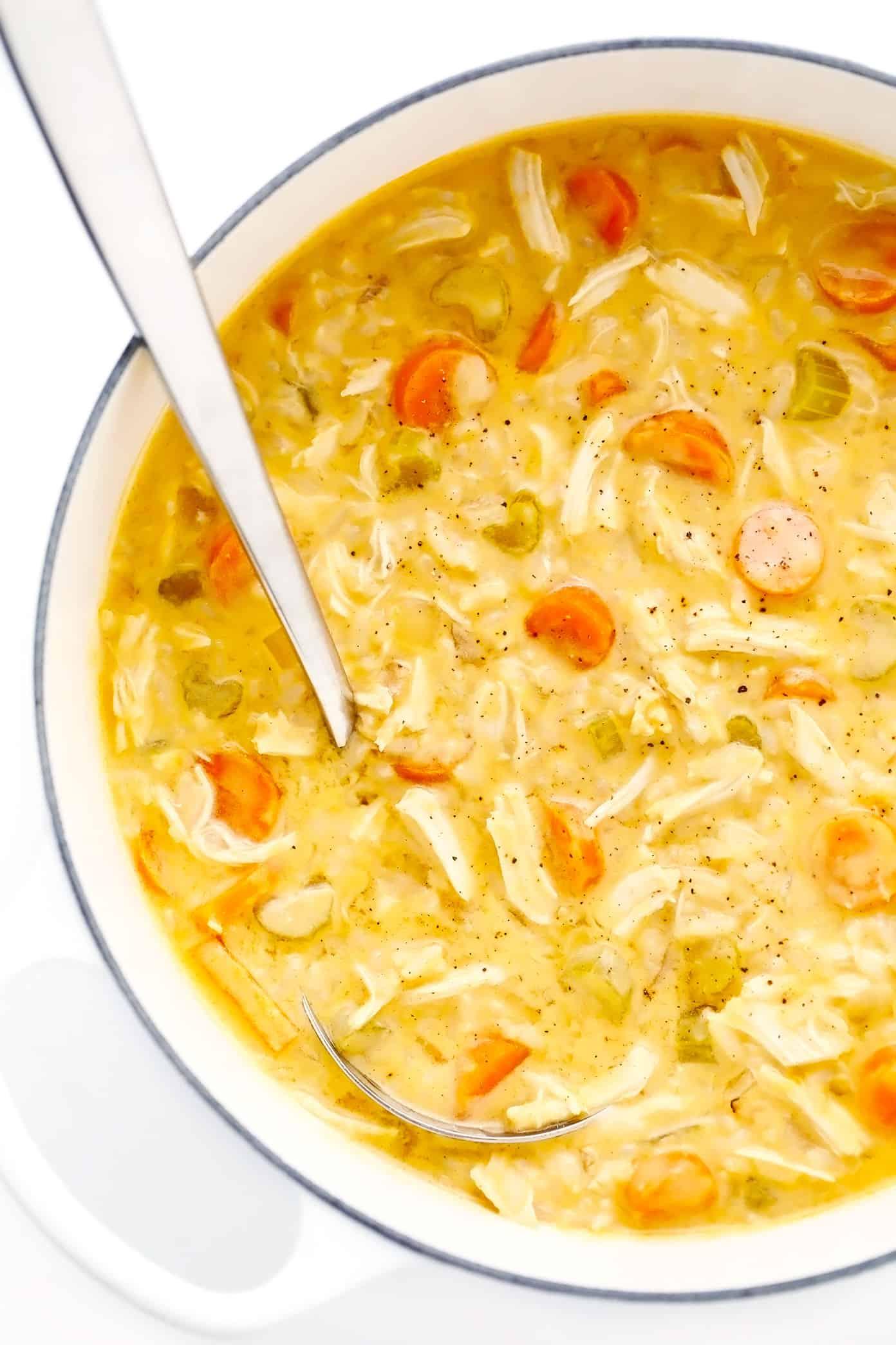 Pot of Creamy Buffalo Chicken Soup