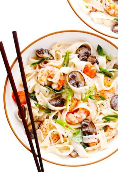 Lemongrass Coconut Noodles with Shrimp