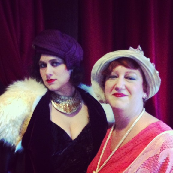 Beth with our friend and super stylist, Malina, who designed our costumes.