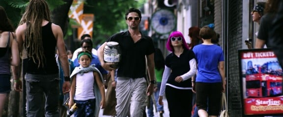 Zach Braff, Joey King and Pierce Gagnon in Wish I Was Here. By Lawrence Sher.