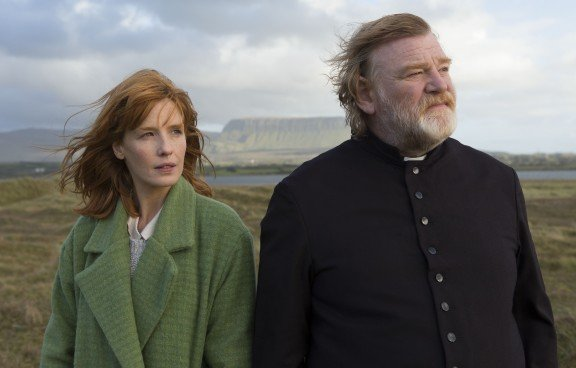 Kelly Reilly and Brendan Gleeson in  John Michael McDonagh's Calvary.Photo by Jonathan Hession.