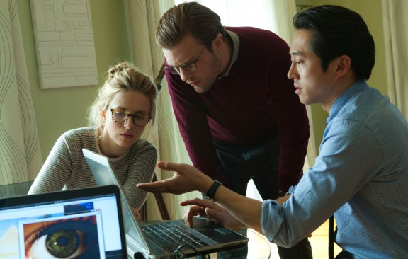 Brit Marling, Michael Pitt and Steven Yeun in Mike Cahill's I Origins. Photo by Jelena Vukotic