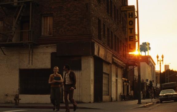 Elle Fanning and John Hawkes in Jeff Preiss's Low Down.