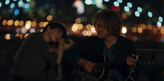 Anne Hathaway and Johnny Flynn and Kate Barker-Froyland's Song One. Photo by John Guleserian.