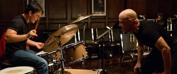 Miles Teller and J.K. Simmons in Damien Chazelle's Whiplash