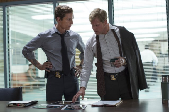 Matthew McConaughey and Woody Harrelson in Nic Pizzolatto's True Detective.