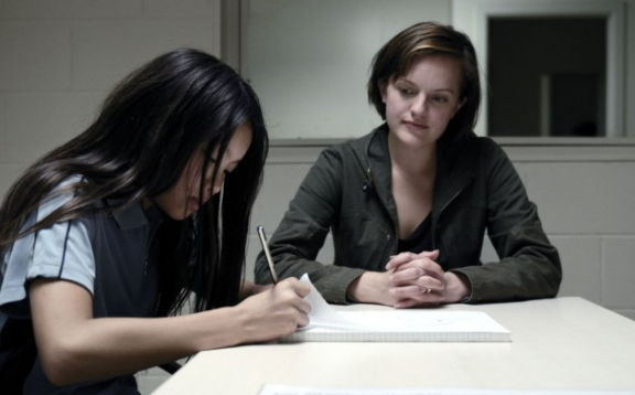 Michelle Ang and Elisabeth Moss in Jane Campion and Garth Davis's Top of the Lake.