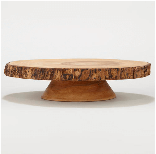World Market Wood Bark Pedestal Stand | gimmesomelife.com