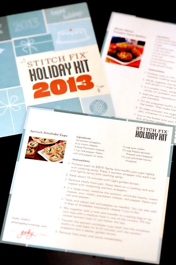 November Stitch Fix Recipes