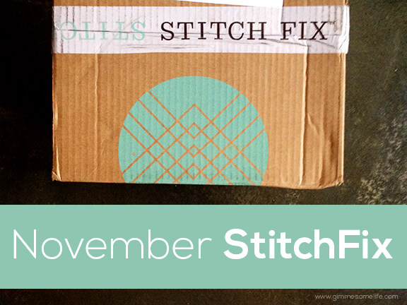 November Stitch Fix | gimmesomeoven.com