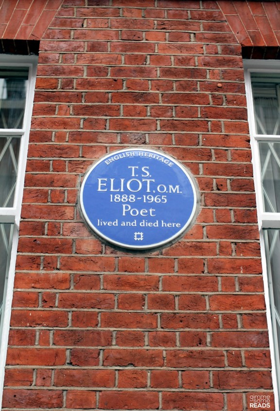 T. S. Eliot, O.M. (1888-1965); Poet lived and died here