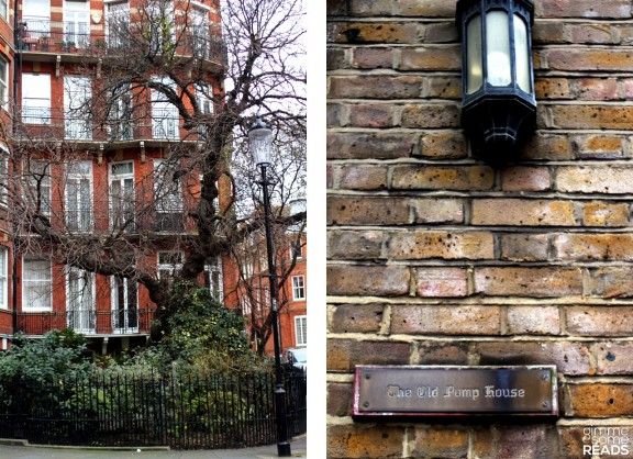 great Kensington Ct tree & The Old Pump House seen to the right of Eliot's building