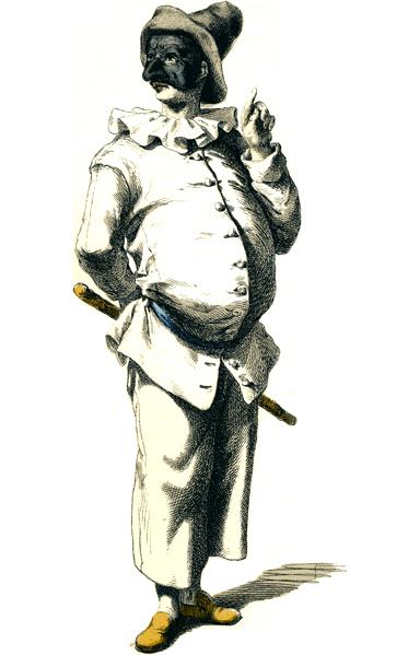 Artist: Maurice Sand. Masques et bouffons (Comedie Italienne). Paris, Michel Levy Freres, 1860
