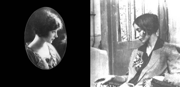 Left: Photograph of Anaïs Nin as a teenager, circa 1920.   Right: Photograph of Nin, date unknown.