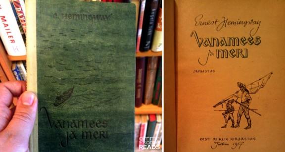 Hemingway's The Old Man and the Sea found in Raamatukoi Bookshop | Tallinn, Estonia 2012