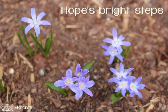 Hope's bright steps #Bronte | gimmesomereads.com