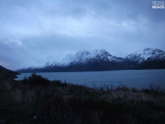 gloaming over lake wakatipu   New Zealand 2010