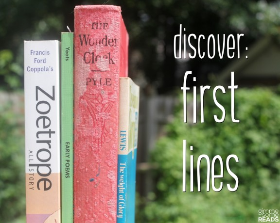 discover first lines #1 (Z/Y/X/W)   Gimme Some Reads