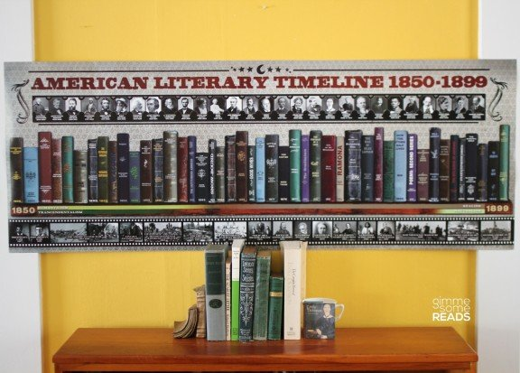 American Literary Timeline 1850-1899 by ECHO-LIT | gimmesomereads.com