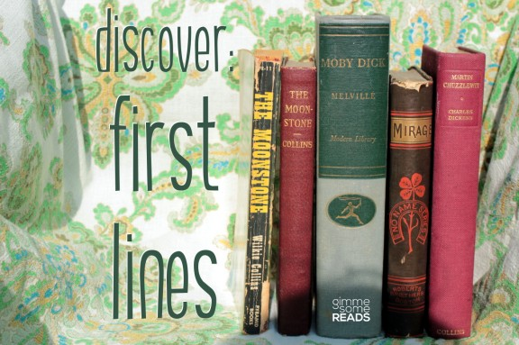 Discover First Lines #8 (M)   gimmesomereads.com