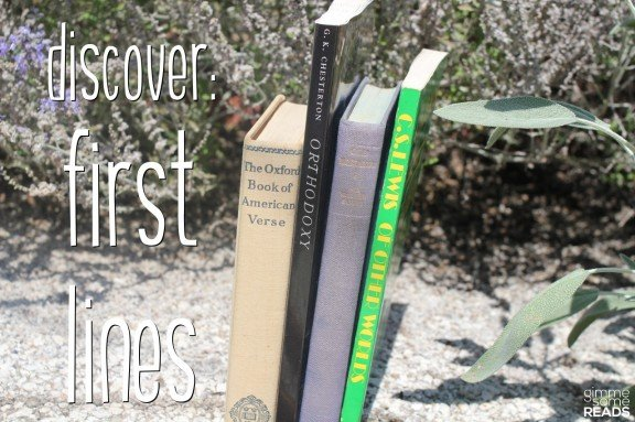 Discover: First Line #6   gimmesomereads.com