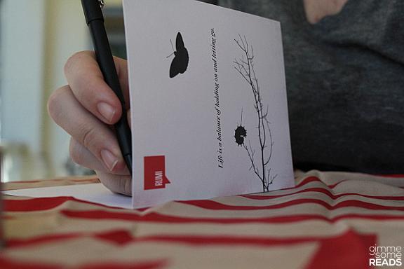 DesignDifferent #Rumi card   gimmesomereads.com