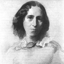 Portrait of George Eliot by Samuel Laurence, circa 1860