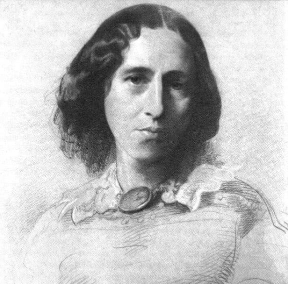 Portrait of George Eliot by Samuel Laurence