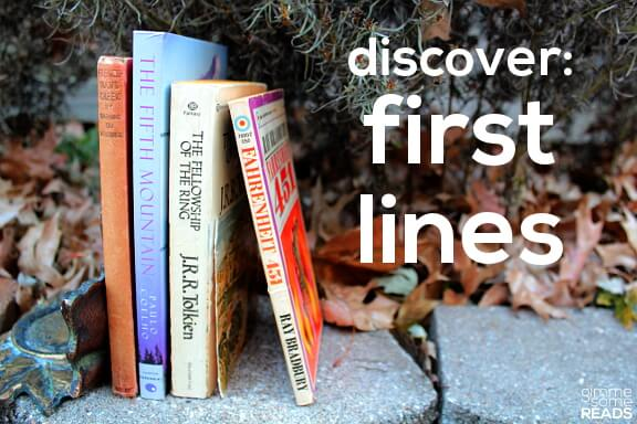 Discover: First Lines #15 | gimmesomereads.com
