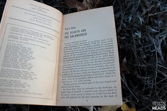 First page of Fahrenheit 451 by Ray Bradbury | gimmesomereads.com