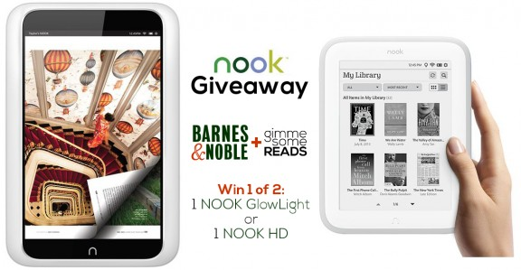 B&N NOOK Giveaway | gimmesomereads.com