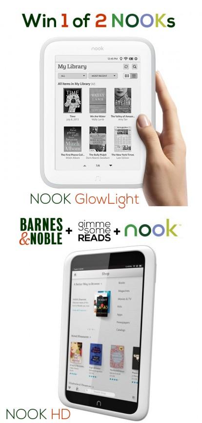 NOOKs Giveaway | gimmesomereads.com