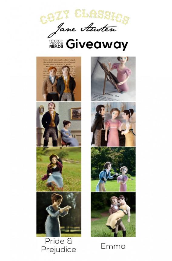 Cozy Classics Jane Austen Prints Giveaway | gimmesomereads.com