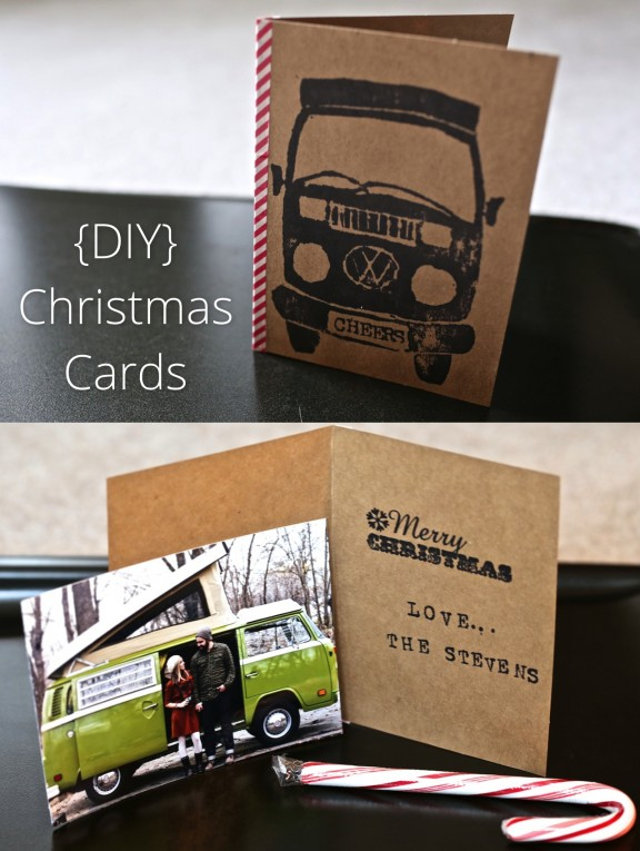 {DIY} Christmas Cards | www.gimmesomestyleblog.com #cards #christmas #bus