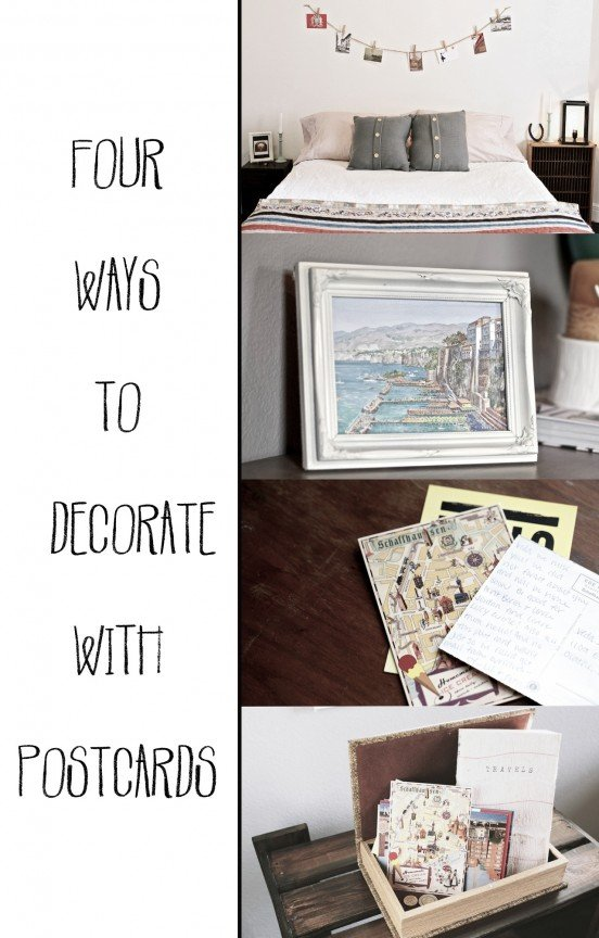 Four Ways To Decorate With Postcards