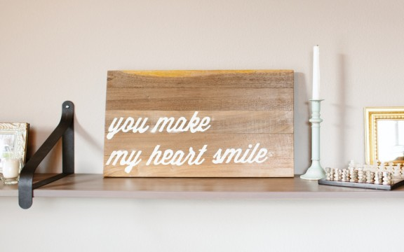 Here is a tutorial on how to make your own wood text art! | www.gimmesomestyleblog.com #diy