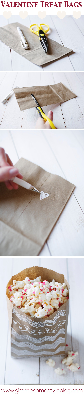 Valentine Treat Bags   www.gimmesomestyleblog.com #valentine #diy