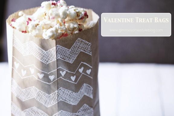 Valentine Treat Bags   www.gimmesomestyleblog.com #diy #valentine