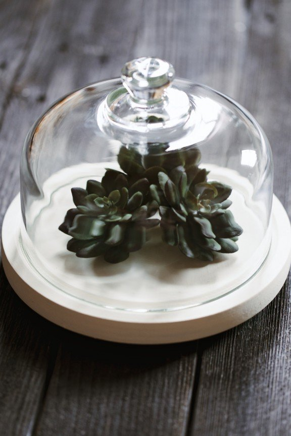 Have a black thumb? Make this faux terrarium for your home! | www.gimmesomestyleblog.com #diy #terrarium
